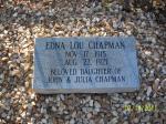 Edna Lou Chapman Headstone